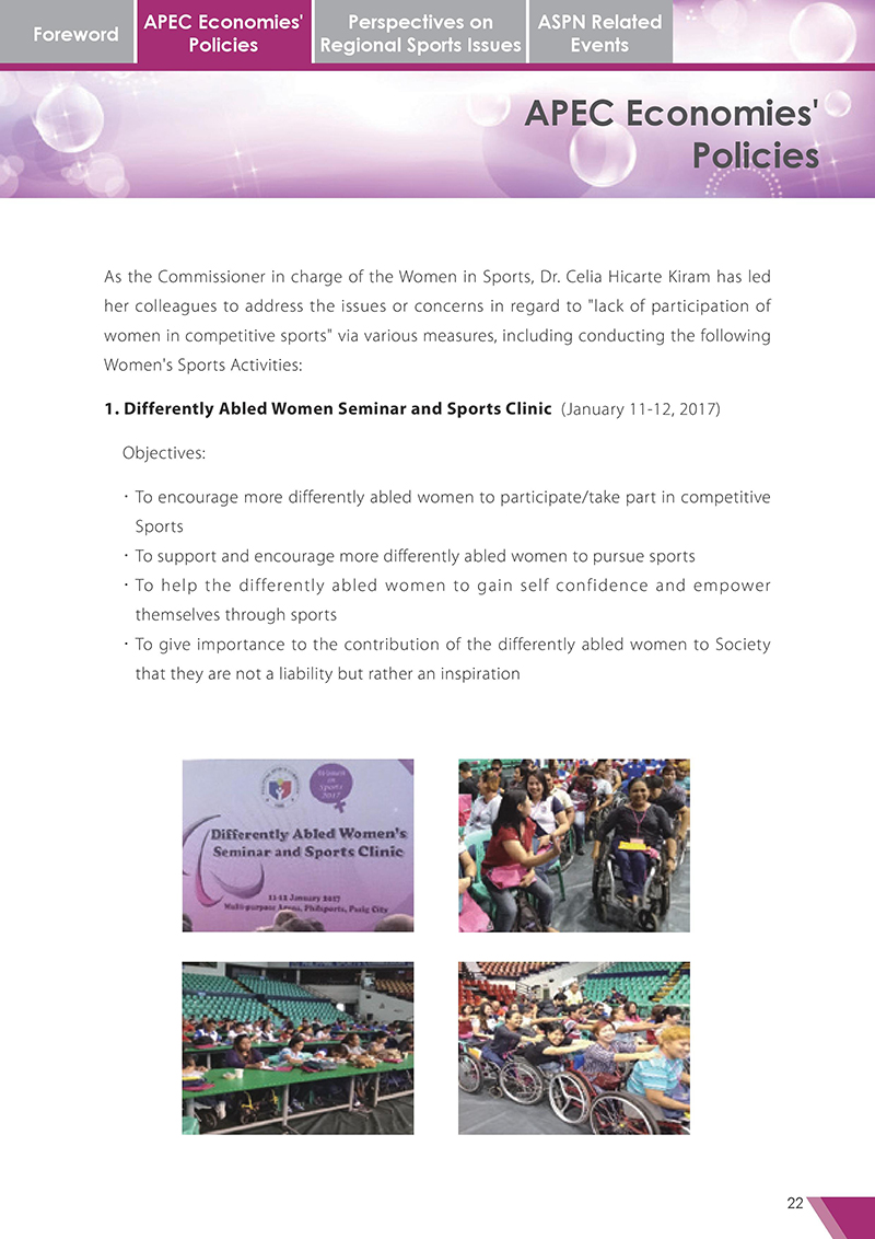 APEC Sports Newsletter Issue 3 October 2017 P.22