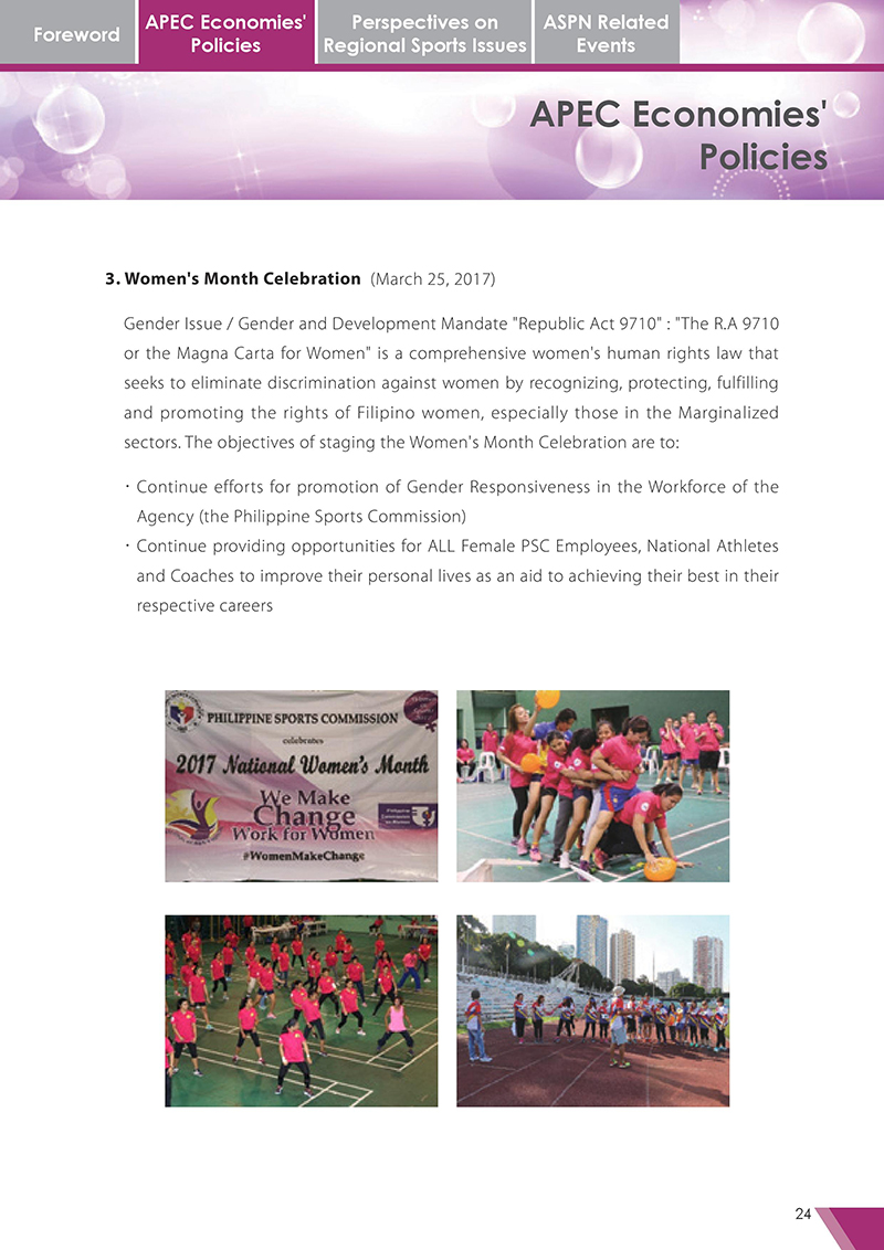 APEC Sports Newsletter Issue 3 October 2017 P.24