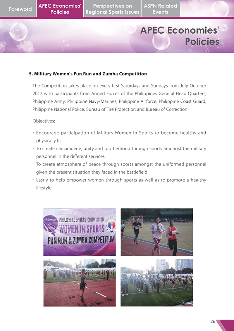 APEC Sports Newsletter Issue 3 October 2017 P.26