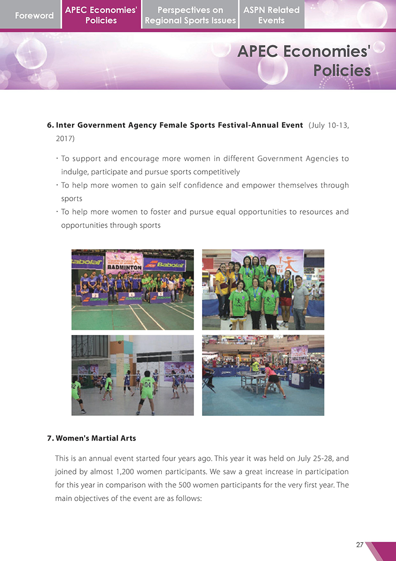 APEC Sports Newsletter Issue 3 October 2017 P.27