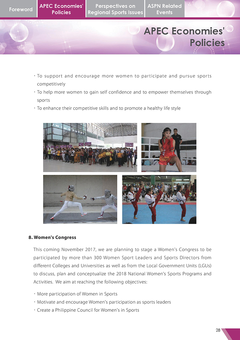 APEC Sports Newsletter Issue 3 October 2017 P.28