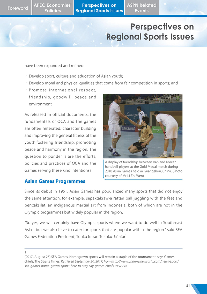 APEC Sports Newsletter Issue 3 October 2017 P.51