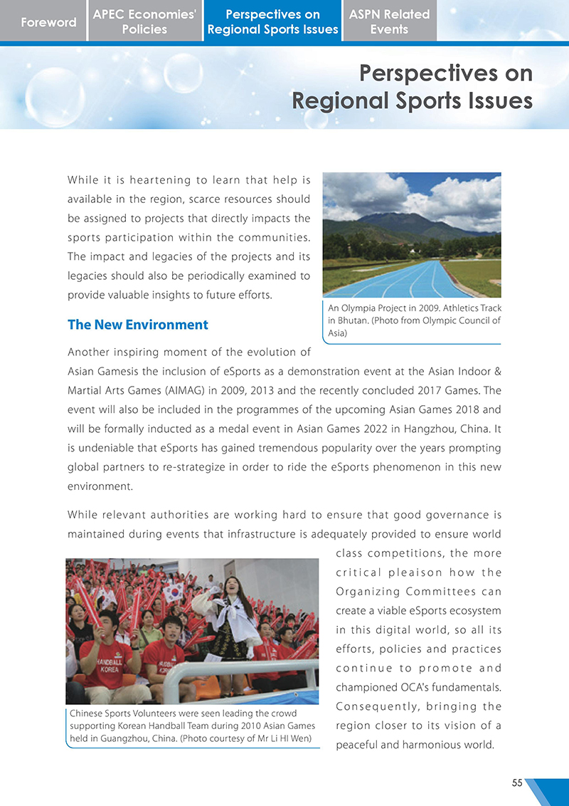 APEC Sports Newsletter Issue 3 October 2017 P.55