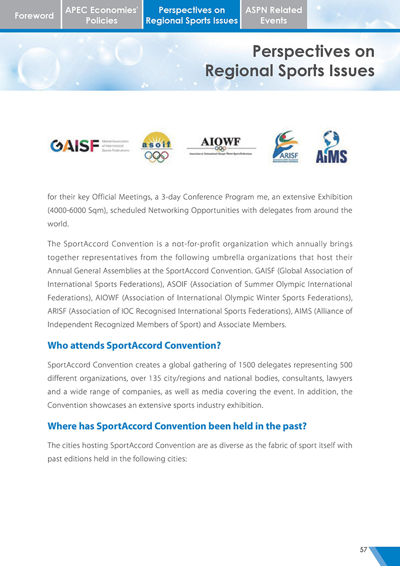 APEC Sports Newsletter Issue 3 October 2017 P.57