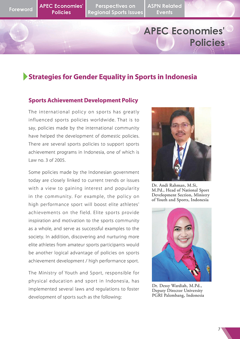 APEC Sports Newsletter Issue 3 October 2017 P.7