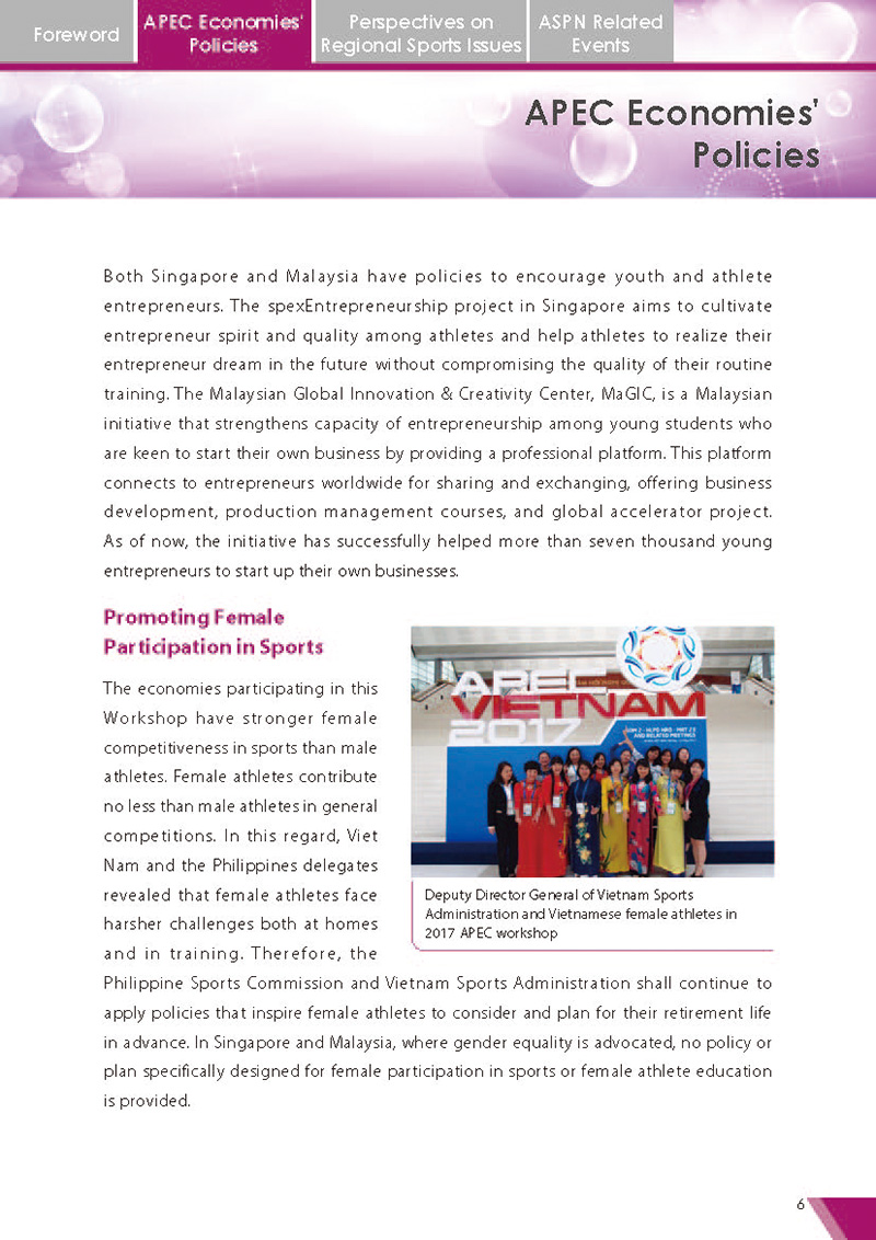APEC Sports Newsletter Issue 2 July 2017 P.6