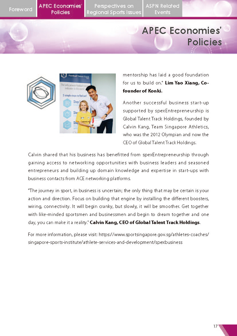 APEC Sports Newsletter Issue 2 July 2017 P.17