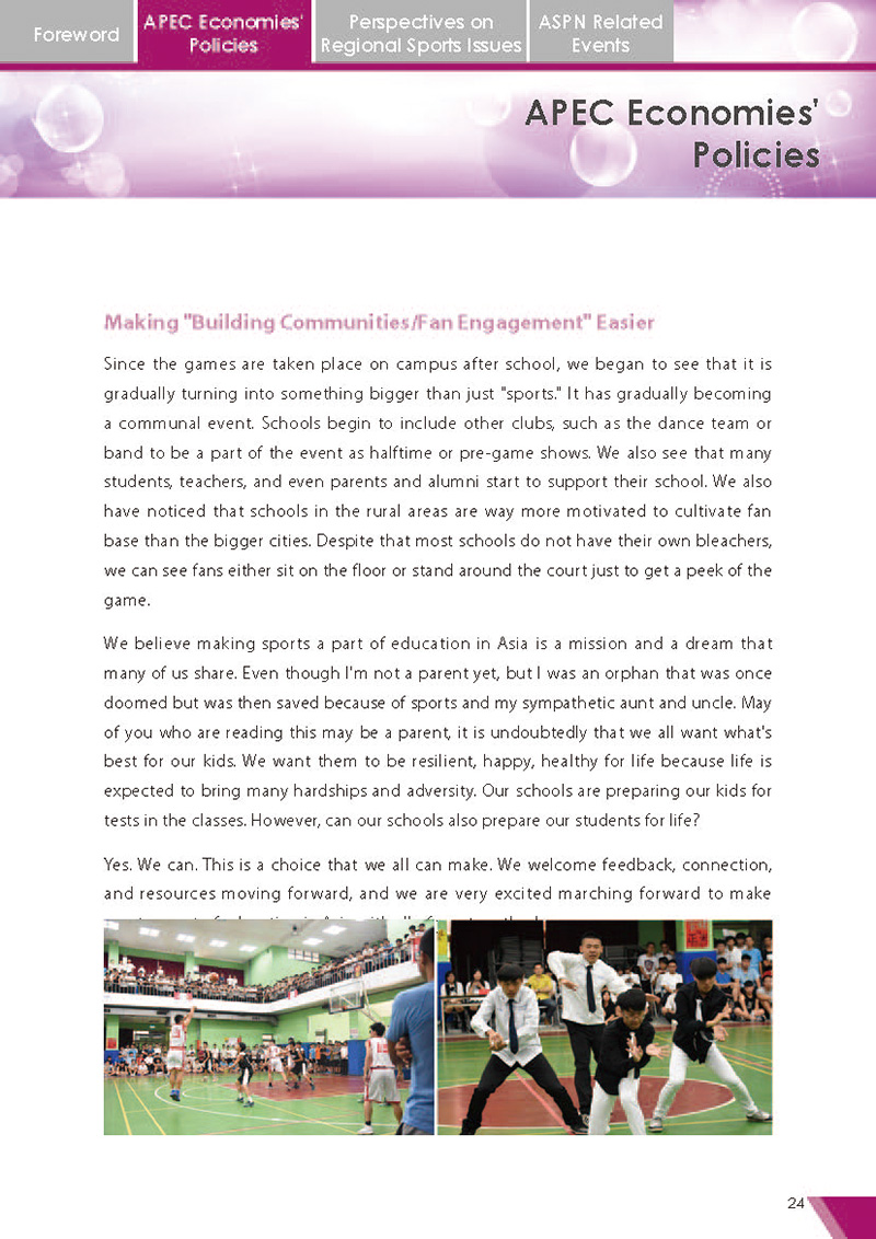 APEC Sports Newsletter Issue 2 July 2017 P.24