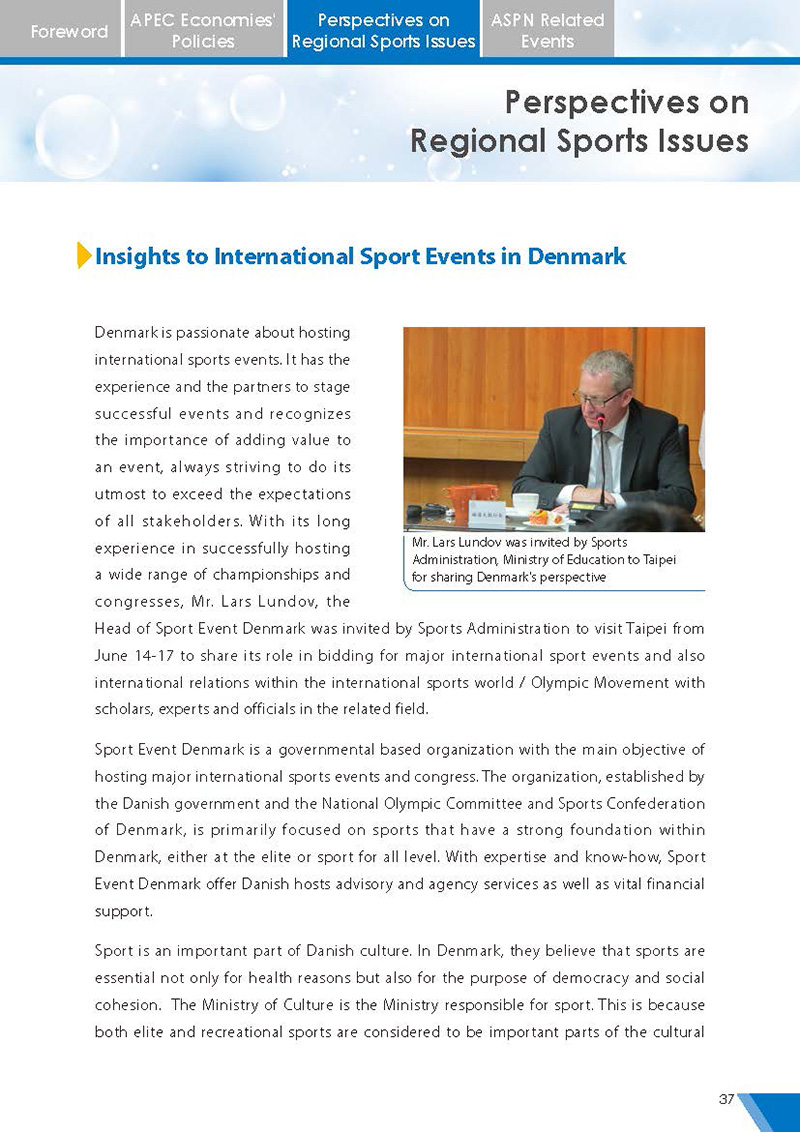 APEC Sports Newsletter Issue 2 July 2017 P.37