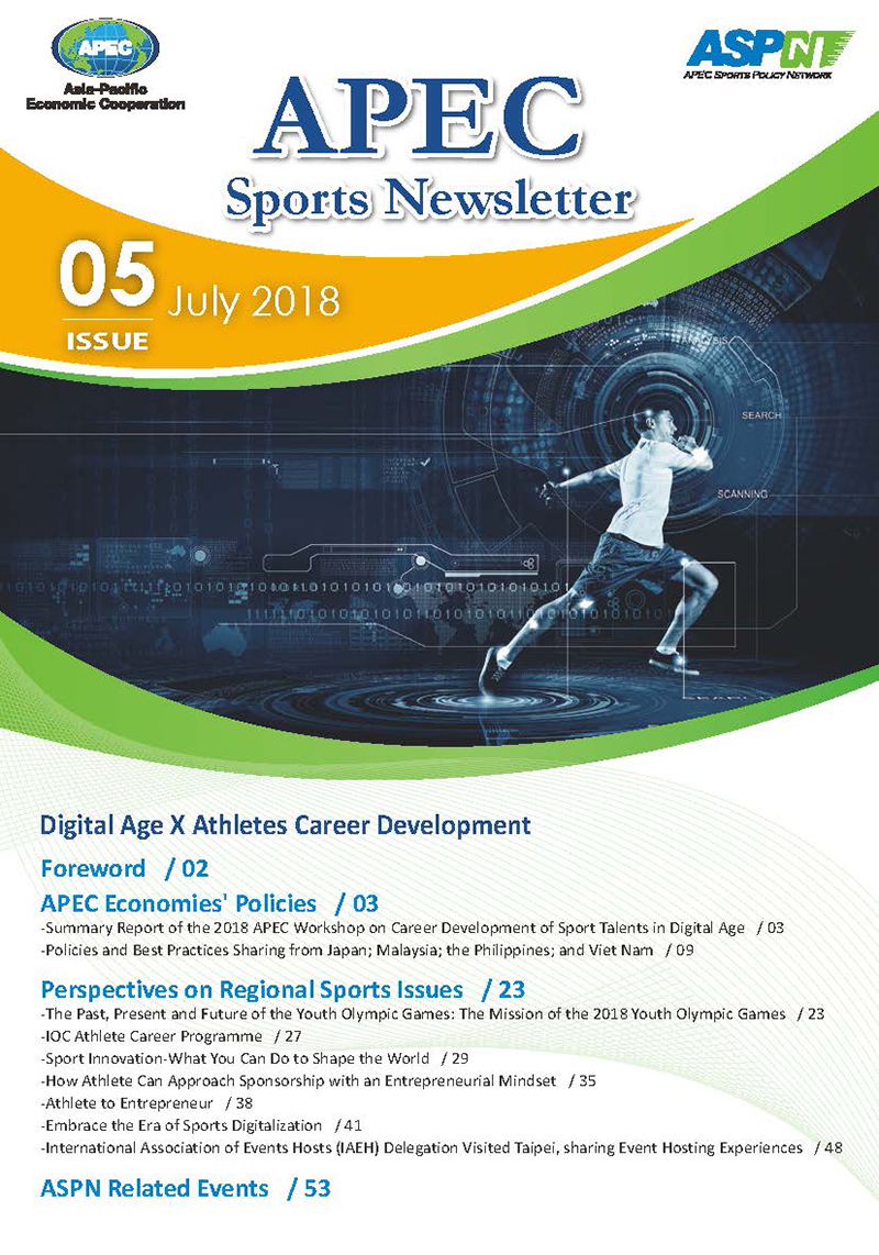 APEC Sports Newsletter Issue 5 July 2018