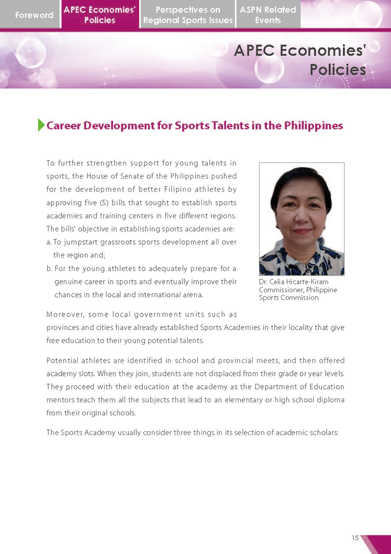 APEC Sports Newsletter Issue 5 July 2018 P.15
