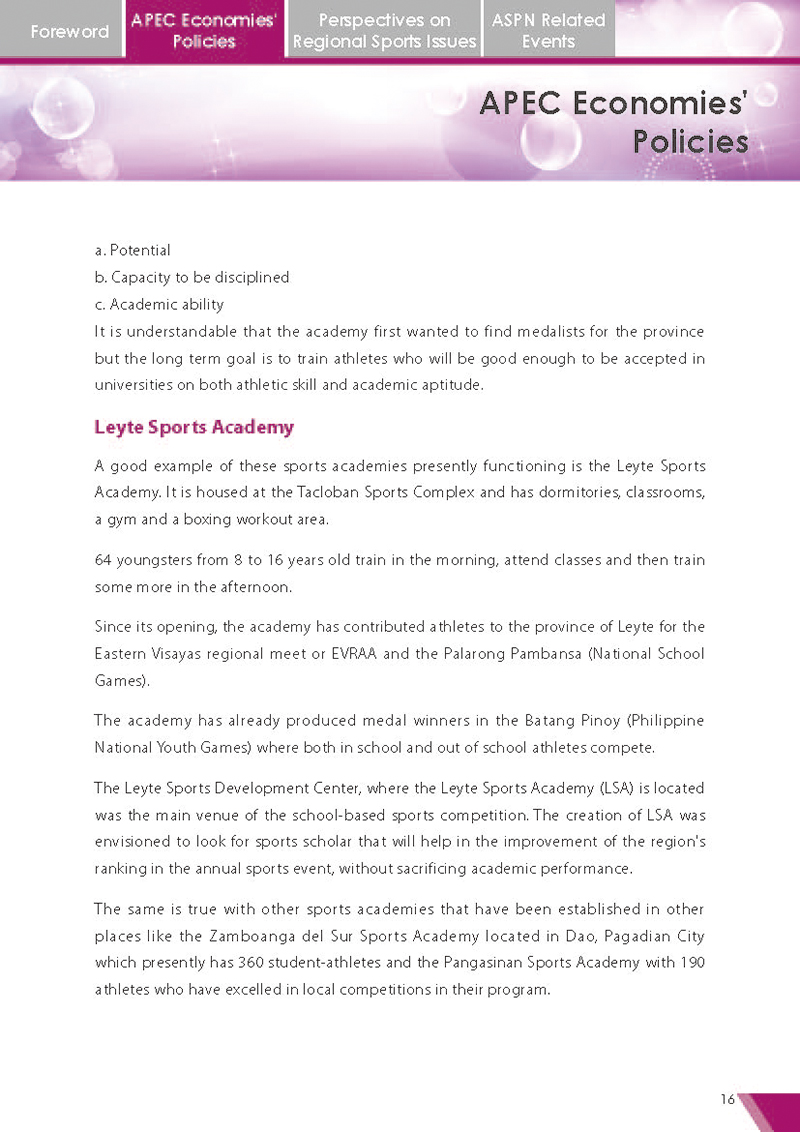 APEC Sports Newsletter Issue 5 July 2018 P.16