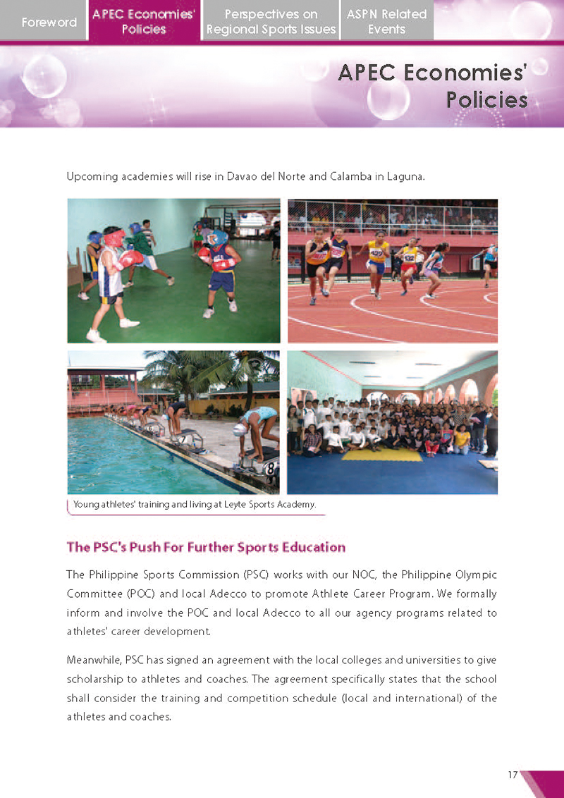APEC Sports Newsletter Issue 5 July 2018 P.17