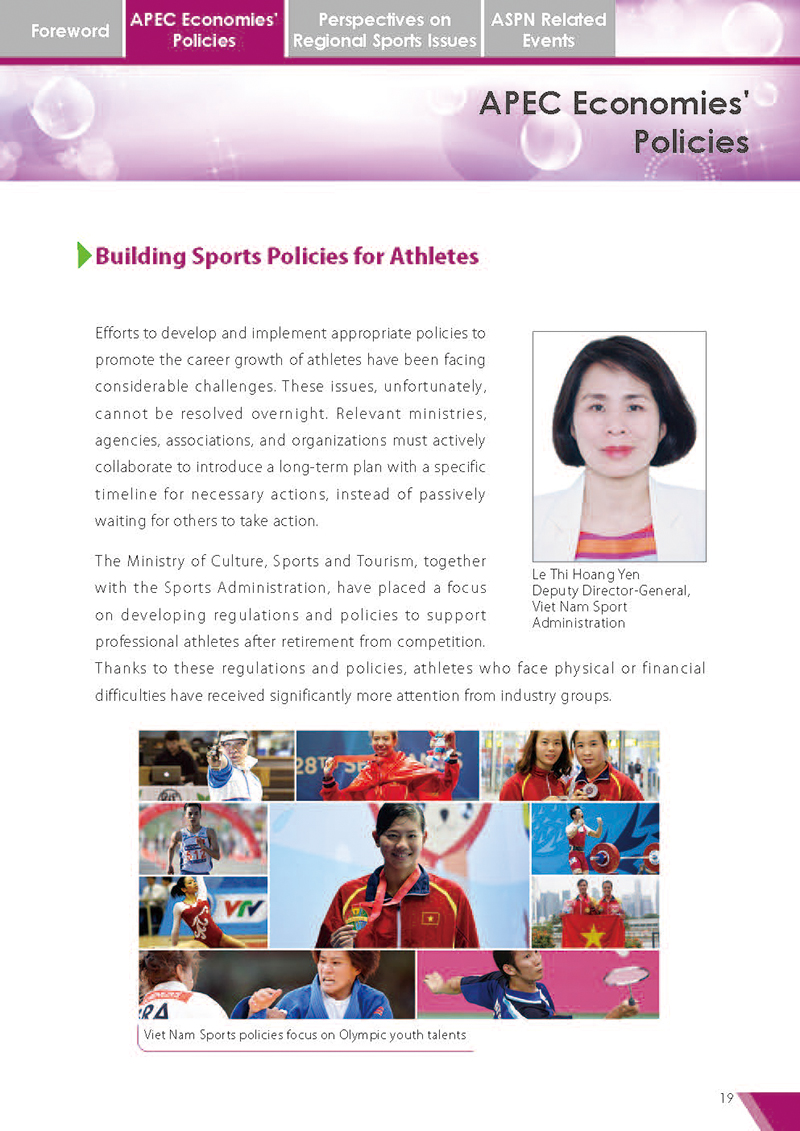 APEC Sports Newsletter Issue 5 July 2018 P.19