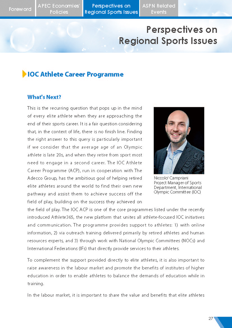 APEC Sports Newsletter Issue 5 July 2018 P.27