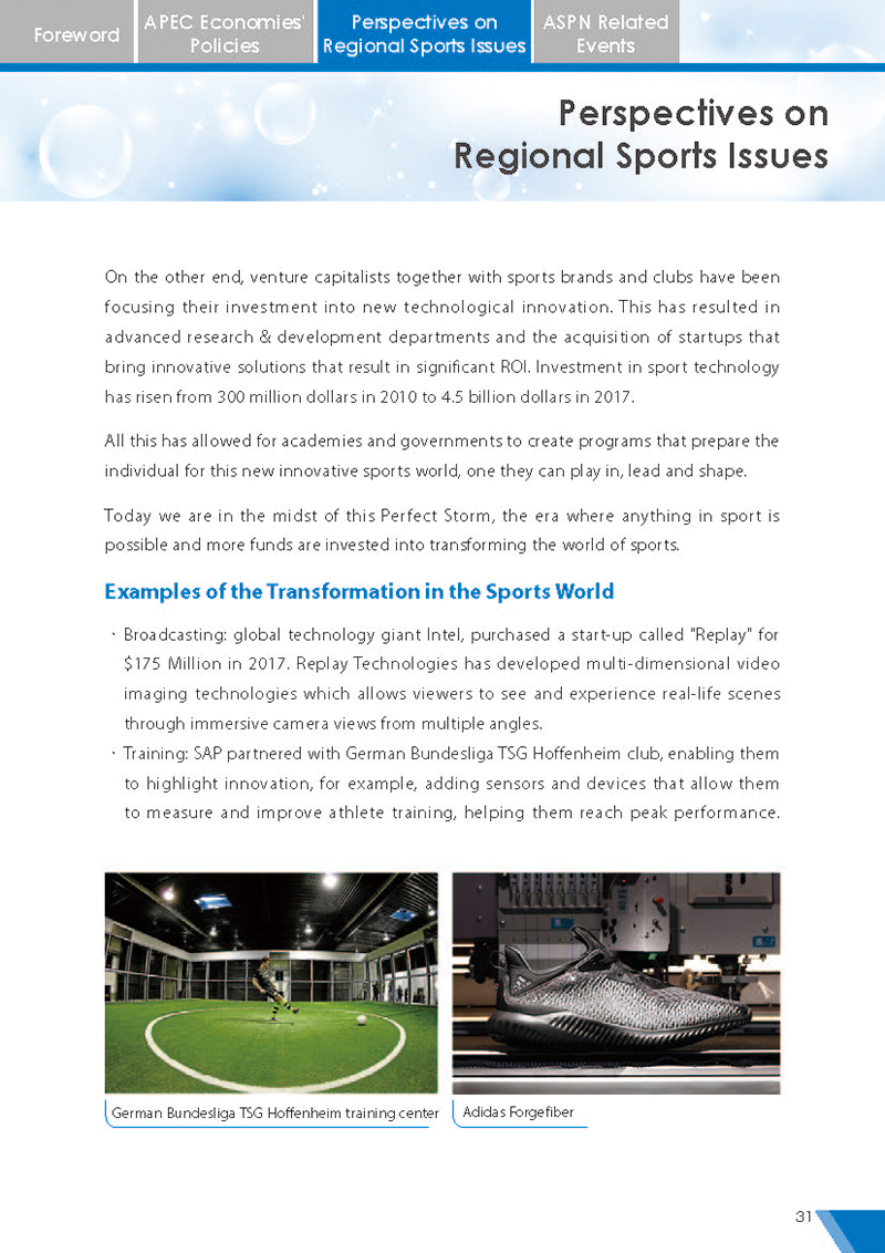 APEC Sports Newsletter Issue 5 July 2018 P.31
