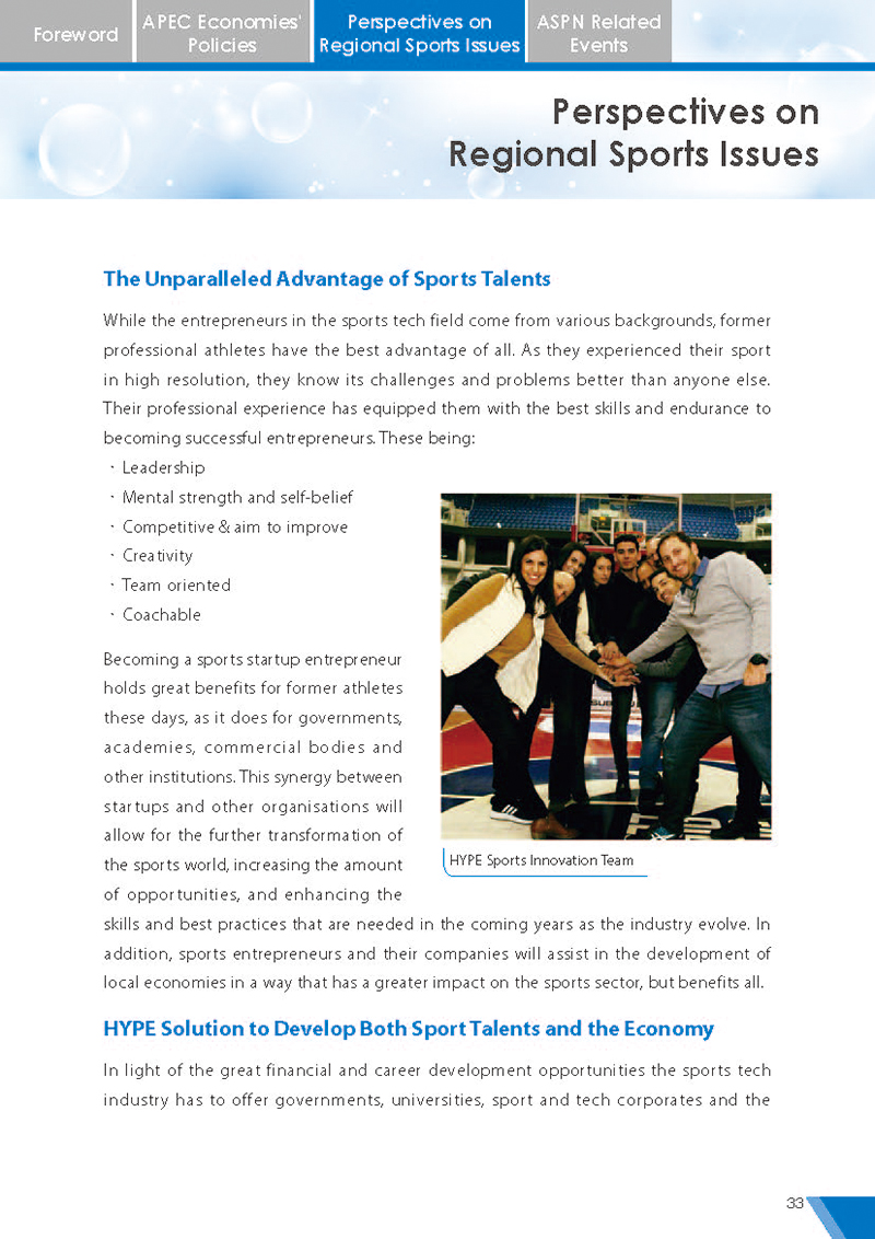 APEC Sports Newsletter Issue 5 July 2018 P.33