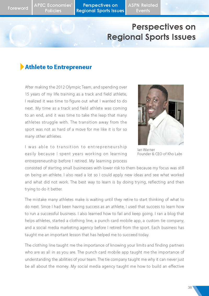 APEC Sports Newsletter Issue 5 July 2018 P.38