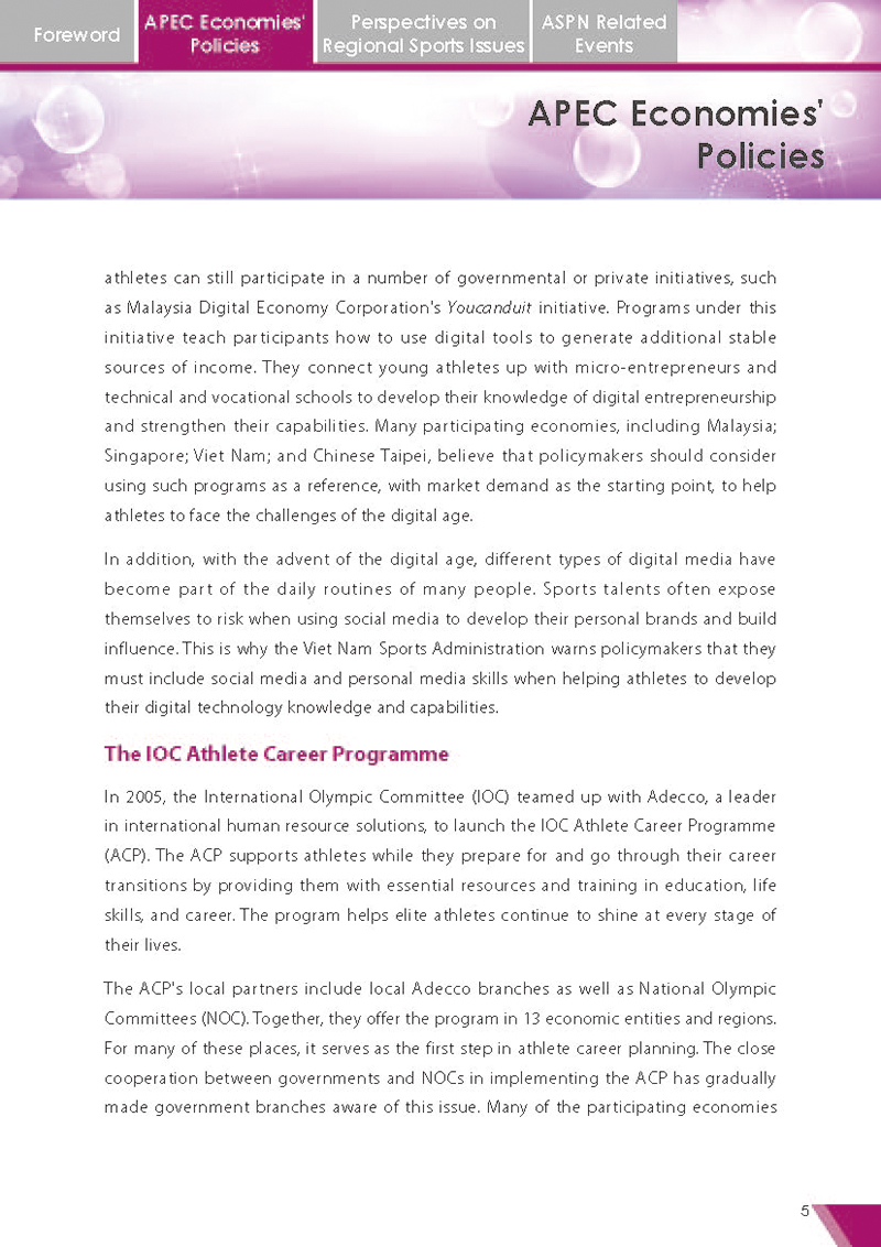 APEC Sports Newsletter Issue 5 July 2018 P.5