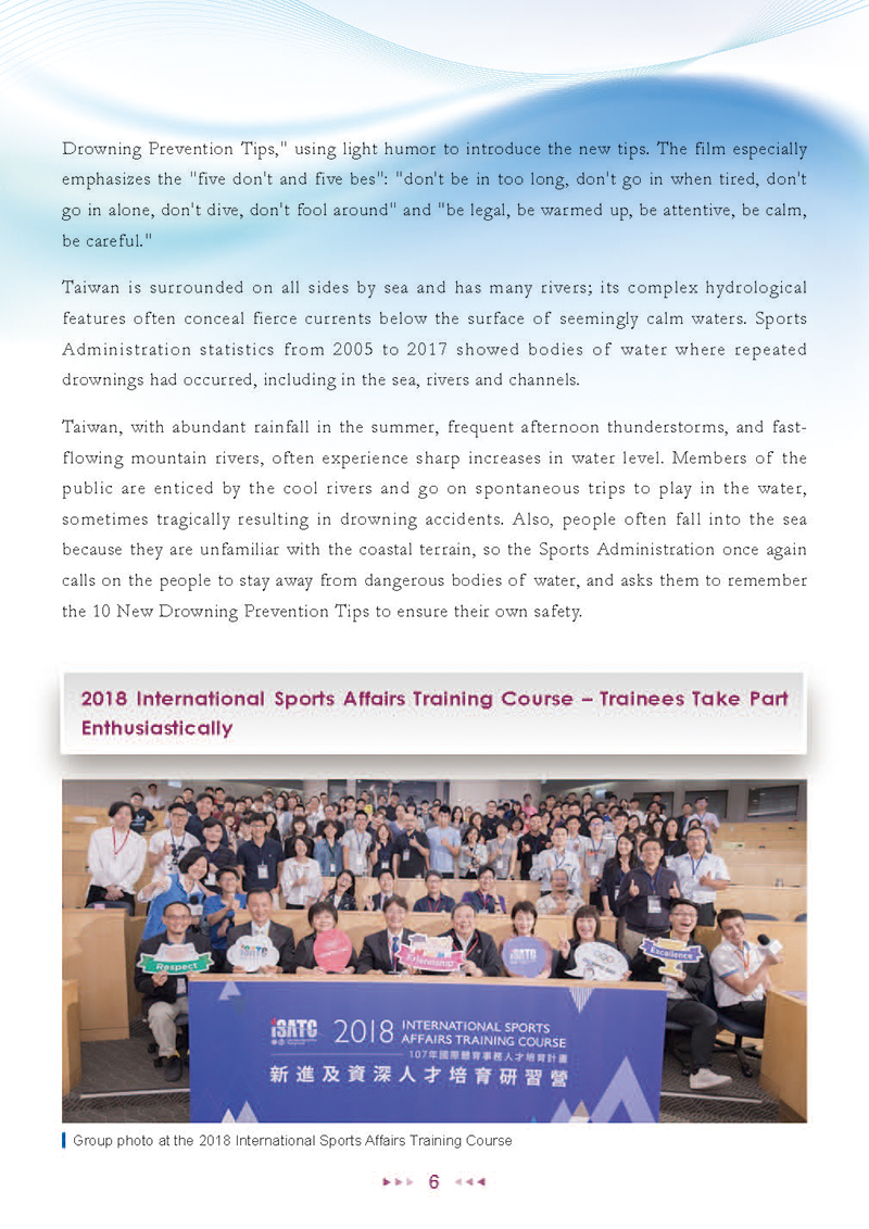 Sports Administration Newsletter #67 June 2018 P.6