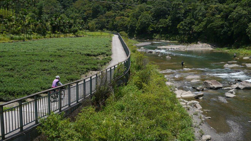 Daiyujue River Bicycle Trail of Pinglin District.