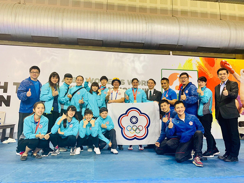 2018 AIBA Women's World Boxing Championship/Chinese Taipei representative (provided by Chinese Taipei Amateur Boxing Association).